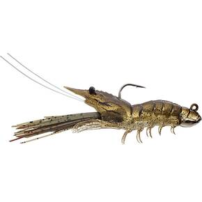 "LiveTarget Shrimp Rigged Swimbait Semisoft Lure 4"" 1/2 oz - Sand Shrimp"
