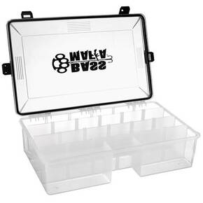 Bass Mafia Bait Casket 3700 Double Deep Storage Tray - Clear