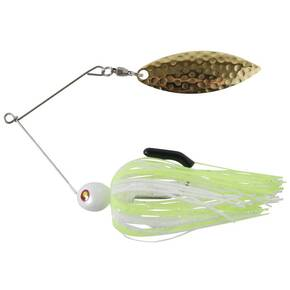 "Tim Poe Thunder Lures Single Blade Spinnerbait 1/8 oz 3-1/2"" - Chartreuse/White"
