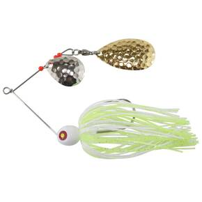 "Tim Poe Thunder Lures Double Blade Spinnerbait 1/8 oz 1-1/2"" - Indiana Gold/Chartreuse & White"