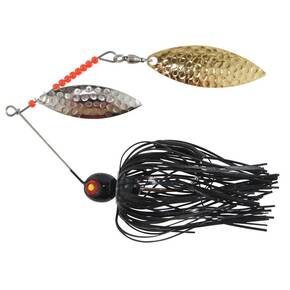 Tim Poe Thunder Lures Double Blade Spinnerbait 1/4 oz - Willow Gold/Chartreuse & White/Black