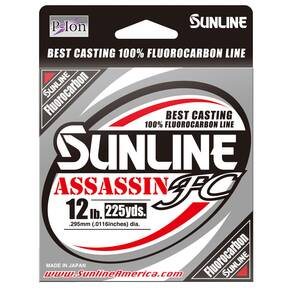 Sunline Assassin FC Fluorocarbon Fishing Line 225 yd 10 lb - Clear