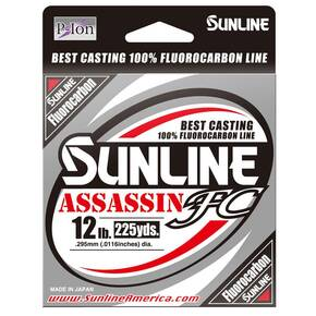 Sunline Assassin FC Fluroucarbon Fishing Line 225 yd 20 lb - Clear