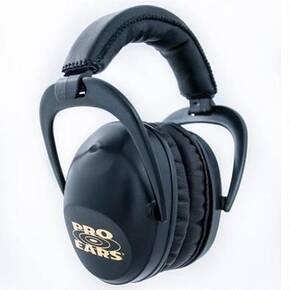 ProEars Ultra Sleek Super Lightweight Passive Ear Muff,  Black