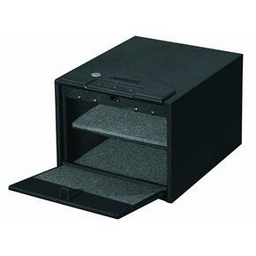 Stack-On Quick Access Safe with Electronic Lock-Black