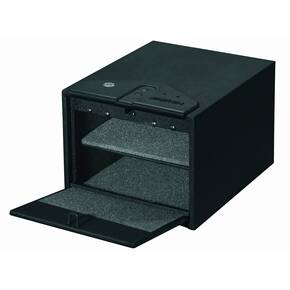 Stack-On Quick Access Safe with Biometric Lock-Black