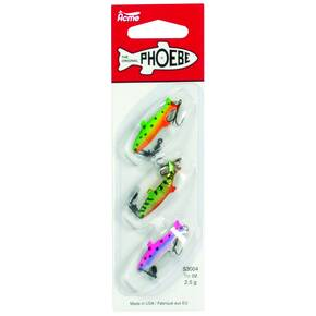 Acme Phoebe Spinning Blade Lure Deluxe Pack 1/8 oz 3/pk - Assorted