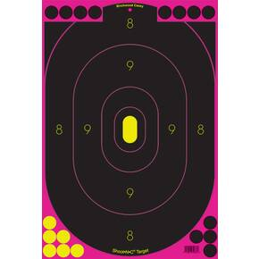 "Birchwood Casey Shoot-N-C Pink Reactive Targets 12""x18"" 5 Targets, 90 Pasters"