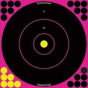 "Birchwood Casey Shoot-N-C Pink Reactive Targets 8"" 6/Pack"