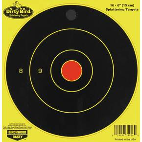 "Birchwood Casey Dirty Bird Bull's-Eye Targets - 6"" Round, 16/Pack"