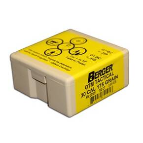 "Berger Match Grade Tactical Bullets .22 cal .224"" 77 gr OTM TACTICAL 100/box"