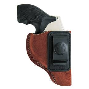 Bianchi Model 6 Waistband Holster - for Glock 19, 23, 26, 27, 36, Left Hand, Rust Suede