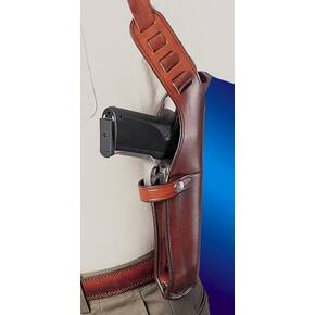Bianchi Model X15 Vertical Shoulder Holster, Sig Sauer P220, P220R, Right Hand, Plain Tan
