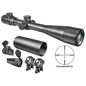 "Barska Swat Sniper Rifle Scope - 10-40x50mm Mil-Dot IR 9.4-2.6' 3.6"" Matte"