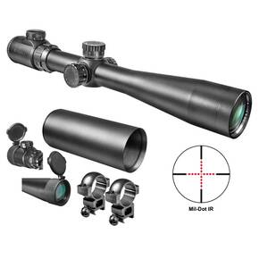 "Barska Swat Sniper Rifle Scope - 3.5-10x40mm Mil-Dot IR 29.3-9.1' 3.3"" Matte"