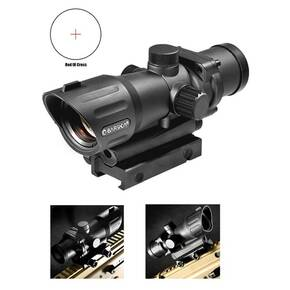 Barska M-16 Electro Sight Rifle Scope  - 1x30mm Illuminated Red Cross Reticle 54' FOV Unlimited ER Matte