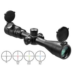 "Barska Point Black Rifle Scope  - 3-12x40mm IR 3G 33-8.4' 3.93"" Matte"