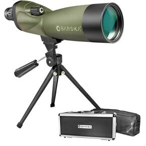 Barska Blackhawk WP Spotting Scope Tripod, Soft & Hard Case - 20-60x60mm Matte