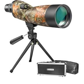 Barska Blackhawk WP Spotting Scope Tripod, Soft & Hard Case - 20-60x60mm Mossy Oak Breakup Camo