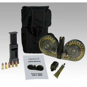 C-Mag Magazine System Magazine Cover, Personal Loader, Pouch, Technical Manual, Graphite Tube, 100/rd Colt 9mm Luger, Clear Cover