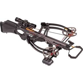 Barnett Vengeance Reverse-Draw Crossbow with Premium Illuminated Scope - Carbon Black