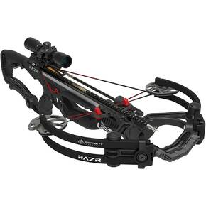 "Barnett RAZR CRT Crossbow with Premium Illuminated Scope and 7/8"" Picatinny Rail - Black"