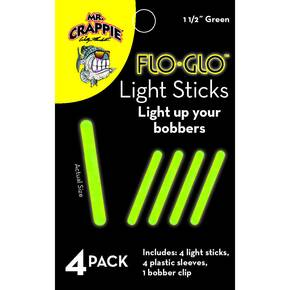 "Mr Crappie Flo Glo Light Sticks 1 1/2"" 4pk - Green"