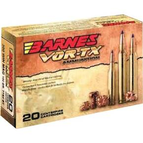 Barnes VOR-TX Rifle Ammunition .300 WSM 165 gr TTSXBT 3130 fps - 20/box
