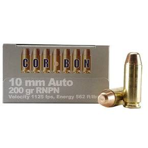 COR-BON Handgun Ammunition 10mm Auto 200 gr HC 1125 fps 20/box
