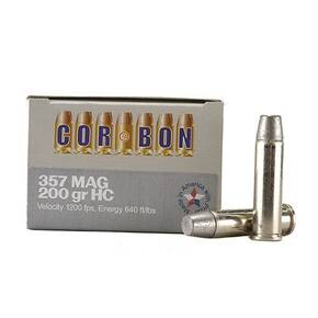 COR-BON Handgun Ammunition .357 Mag 200 gr HC 1150 fps 20/box
