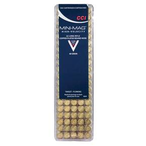 CCI .22 Long Rifle Mini-Mag Rimfire Ammunition .22 LR 40 gr CPRN 100/box