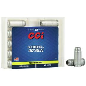 CCI Handgun Shotshells .40 S&W 88 gr #9 shot 1250 fps 10/box