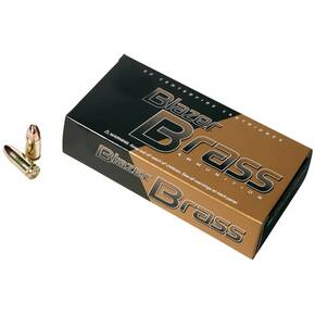 CCI Blazer Brass Handgun Ammunition 9mm Luger 115 gr FMJ 1145 fps 350/can