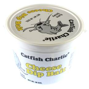 Catfish Charlie Dip Bait Catfish Lure Dough 36 oz - Cheese