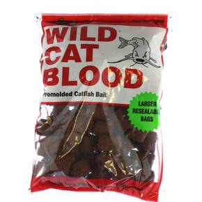 Catfish Charlie Dough Balls Wildcat Catfish Lure 14 oz - Blood