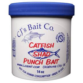 CJs Bait Co. Catfish Punch Bait Dough Lure 14 oz - Shad Flavor