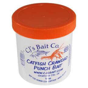 CJs Bait Co. Catfish Punch Bait Dough Lure 14 oz - Crawdad Flavor