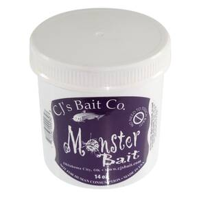 CJs Bait Co. Catfish Punch Bait Dough Lure 14 oz - Monster Flavor