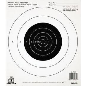 Champion Official NRA Targets B-16, 25 yd.,  Slow Fire, 100/Pack