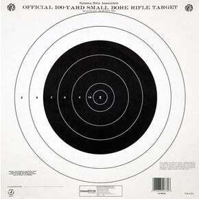 Champion Official NRA Targets GTQ-4(P), 100 yd., Small Bore Rifle, Single Bull, 12/Pack