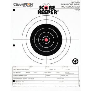 Champion Scorekeeper Targets Fluorescent Orange Bull - 50 yd. Small Bore Notebook, 12/Pack