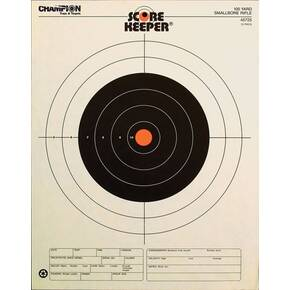 Champion Scorekeeper Targets Fluorescent Orange Bull - 100 yd. Small Bore Rifle, 12/Pack