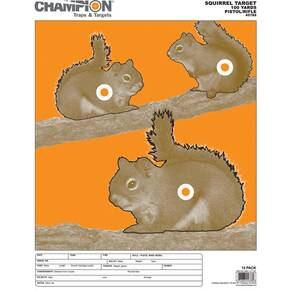 Champion Animal Paper Targets Squirrel, Large, 12/Pack