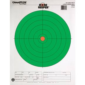 Champion Scorekeeper Targets Fluorescent Orange & Green Bull - 100 yd. Rifle, 12/Pack