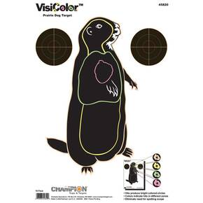"Champion VisiColor High-Visibility Paper Targets Prairie Dog, 11"" X 16"", 10/Pack"