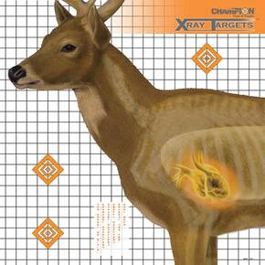 "Champion X-Ray Paper Target - Deer Target 25""x25"" (6-Pack)"