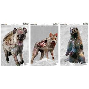 "Champion VisiColor Zombie Targets Vicious Animals Variety, 12"" X 18"", 6/Pack"