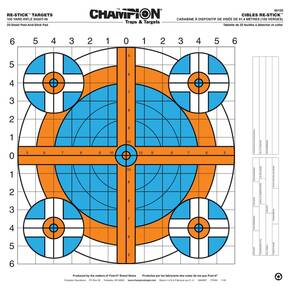 "Champion ReStick Targets 100 yd. Rifle Sight-In, 16"" X 15.75"""
