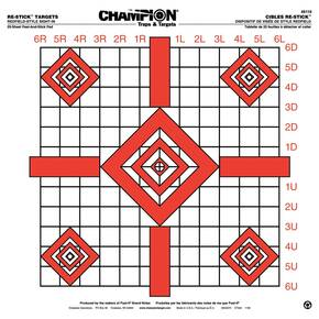 "Champion ReStick Targets Redfield-Style Precision Sight-In, 16"" X 15.75"" 25/page"