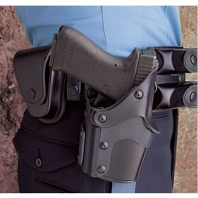 DeSantis for Glock 17, 19 Max Safe Level III Duty Holster-Style 079, Right Hand, Basket Millennium Black